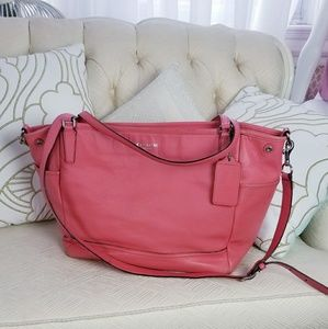 Large coach saffiano leather diaper baby bag